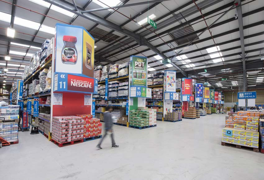 wholesale branding for cash and carry depots