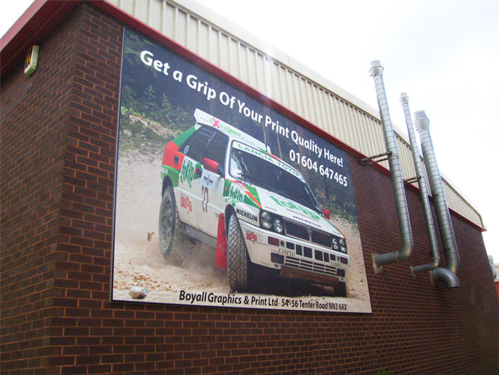 Huge banner sign 6mx4m