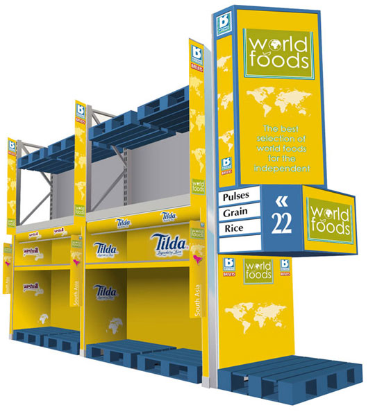 printed aisle tower for wholesale depot