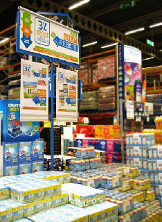 Foamex a cash and carry favourite for aisle display print.