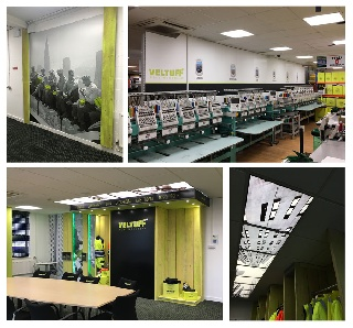 Baca Workwear transforms its workplace with new large format graphics.