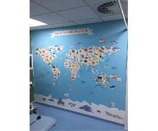 Digital Wall Murial Northampton Hospital